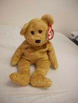 Cashew Bear 2000 Beanie Baby Mint W Mint Tags Tan Bear - $8.60