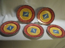 """Vintage Set Of (5) Johnson Brothers Caribb EAN 8"""" Salad Plates - $34.65"""