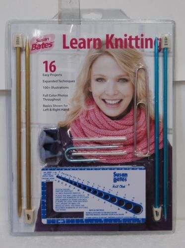 Susan Bates Brand Learning Knitting 16 Easy Projects Basics Left Right Hand