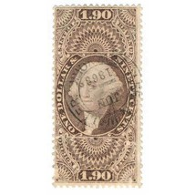 1862-71 $1.90 U.S. Internal Revenue, George Washington R80c Foreign Exch... - $129.00