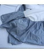 """Blue Chambray Twin Bedskirt Ralph Lauren Seychelles 15"""" Drop Cotton - $29.02"""