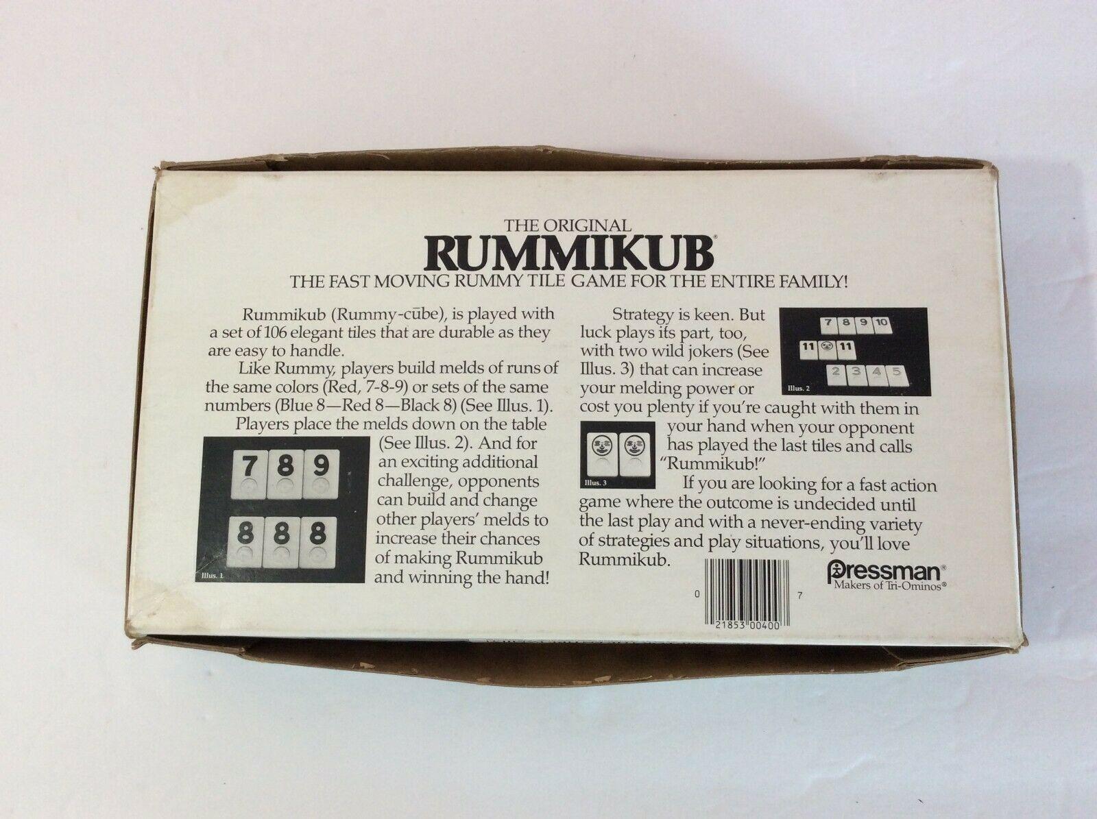 The Original Rummikub Tile Game Complete Pressman 1980