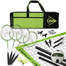 DUNLOP Volleyball Badminton Lawn Game: 11- Piece Outdoor Backyard Party ... - $76.80