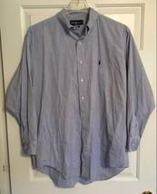 Ralph Lauren Polo Blue Label Mens L/S Button Down Shirt 16 1/2 32/33 Blue - $17.99