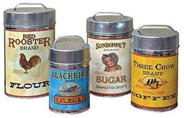 """CWI Gifts Vintage Canisters Food Safe Set of 4, 7.25""""-10.25"""" - €38,87 EUR"""