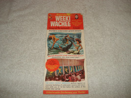 Vintage Weeki Wachee Spring Of Mermaids Florida Advertising Card  - $14.84