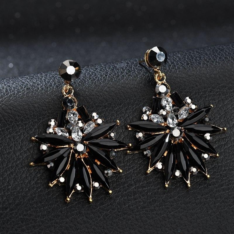 BAHYHAQ - Vintage Crystal Earrings Fashion Party Big Stud Earring