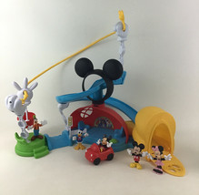 Mickey Mouse Clubhouse Zip Slide Zoom Playset 2015 Minnie Goofy Mattel D... - $34.60