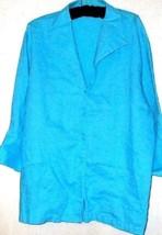 WOMEN'S BLUE 100% LINE BUTTON DOWN SIZE 1X - $12.00