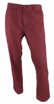 New Mens Tommy Hilfiger Custom Fit Red Towny Port Cotton Chinos Pants 36 X 30 - $29.69