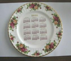 Royal Albert OLD COUNTRY ROSES signed Michael Doulton 2000 Calendar Dinner Plate - $6.89