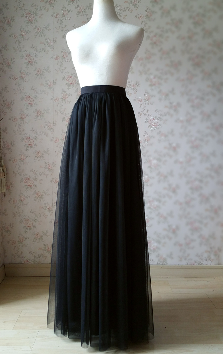 Black tulle skirt 8