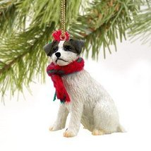 Jack Russell Terrier Miniature Dog Ornament - Roughcoat - Brown - $10.99