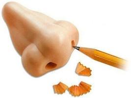 Nose Shaped #2 Pencil Sharpener School Gag Gift Plastic Humorous - $3.70