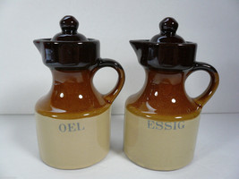 NEW - Vinegar & Oil Pottery Dispensers  - Essig & Oel - $16.00