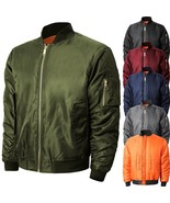 Mens Bomber Jacket Winter Flight Military Air Force MA-1 Tactical - $35.14 - $36.09