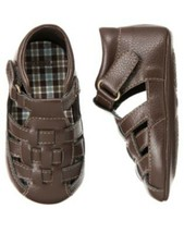 "NWT GYMBOREE INFANT BOYS ""RHINO CUTIE"" BROWN CRIB SHOES SIZE 01 - $10.99"