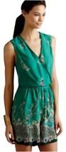 Anthropologie Romper Papillion open back Rayon Green Women Sz M - $49.99