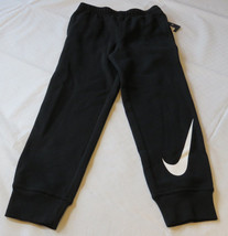 Boy's Nike fleece sweat pants 6 M 5-6 yrs active 863174 black 023 white ... - $32.17