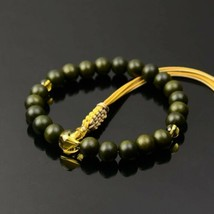 Buddhist Rosary Mala Juzu Prayer beads Japan Kyoto Ryokudan Yellow Crystal - $149.25