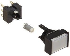 Omron A165L-JWA-24D-2 Two Way Guard Type Pushbutton and Switch, Solder T... - $28.71