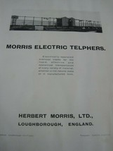 Antique Book Morris Eletric Telphers Herbert Morris written in english  - $37.04