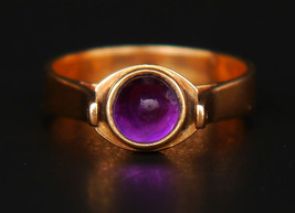 1930 German Transformer Ring solid 14 K Gold Amethyst Pearl Size Ø 6 US ... - $290.08