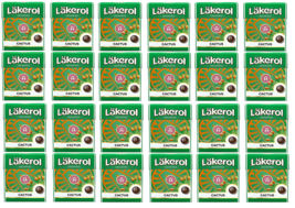 Cloetta Läkerol Cactus Sugar Free Liquorice Pastilles Candy 25g * 24 pack 21oz - $49.50