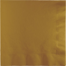2 Ply Lunch Napkins Glittering Gold/Case of 600 - £30.54 GBP