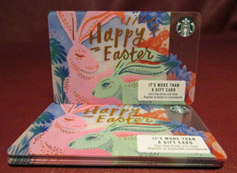 Lot of 13 Starbucks, 2017 Pink & Green Bunnies Happy Easter Gift Cards New w/tag - $15.12
