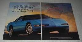 1991 Chevrolet Corvette Coupe Ad - Some things in life are memorable - $14.99