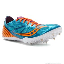 Saucony Endorphin MD4 Running Spikes Women's Shoe Blue/Purple/Orange, Si... - $39.59