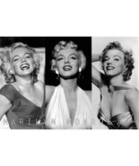 Marilyn Monroe 3 pictures Wall Poster Art 24x36 Free Shipping - $14.50