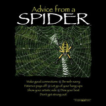 Spider Sweatshirt Advice Unisex Sizes S M L XL New NWT Nature Black Cotton Blend - $25.25
