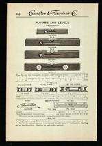 Plumbs Levels Hardwood Metallic Machinists 1919 Tool AD - $14.99