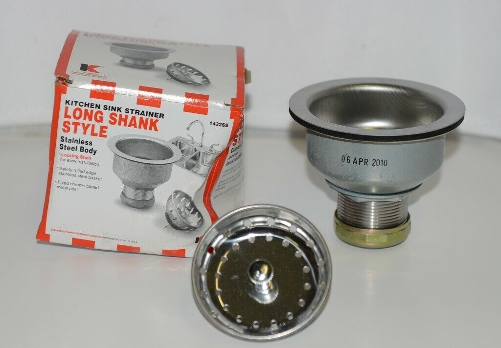 Keeney Manufacturing 1432SS Duo Kitchen Sink Strainer Long Shank Style
