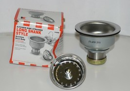 Keeney Manufacturing 1432SS Duo Kitchen Sink Strainer Long Shank Style image 1