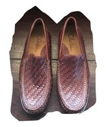 COLE HAAN Men Tremont Venetian Leather Woven Nike Air Soles Loafers Sz 8... - $80.18