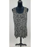 Chico's Travelers women 3/XL slinky sleeveless blouse animal print v-nec... - $24.75