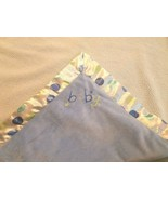 Carters Just One Year Baby Blanket Blue Polka Dot Satin Trim Stars Word ... - $29.15