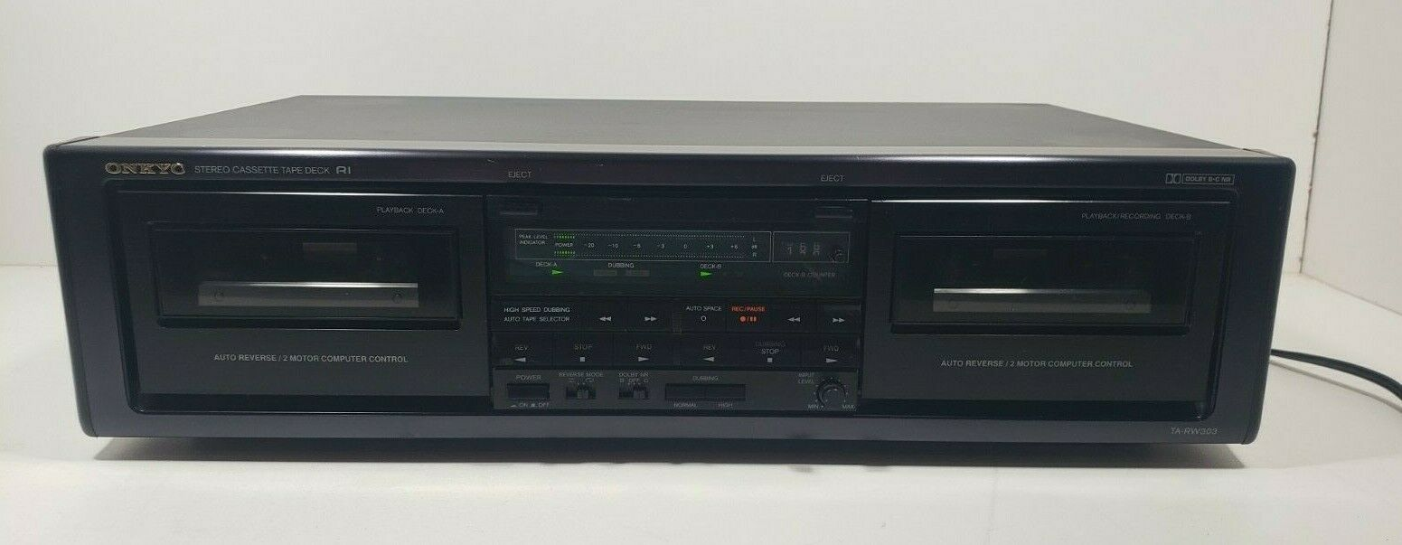 Onkyo Stereo Cassette Tape Deck TA-RW303 Tested