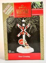 Hallmark - Deer Crossing - Magic Blinking Lights - 1990 Classic Ornament - $12.51