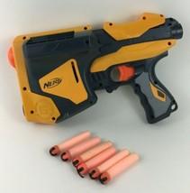 Nerf Dart Tag Speedload 6 Pistol Gun High Speed 2010 Hasbro with Tag Darts - $29.65