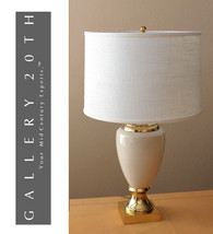 FREDERICK COOPER FRENCH EMPIRE TABLE LAMP! Cream Gold Vtg Eames - £1,122.49 GBP