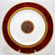 """Noritake Hemingway Holiday Accent Salad Plate 8.5"""" Christmas Holly 4733 Red - $42.57"""