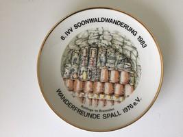 Rolf Tremmel German Collectible Wall Plate Soonwaldwanderung 1983       ... - $18.37