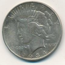 1934-D PEACE SILVER DOLLAR-A NICE CIRCULATED SEMI KEY DOLLAR-SHIPS FREE!... - $39.95