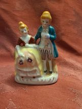 "Vintage Porcelain Figurine - Victorian Man and Woman - Made in Occupied Japan 4"" image 3"