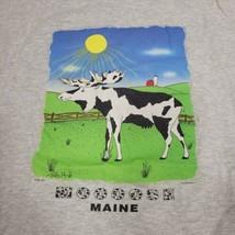 Moose Maine Cow Ros Hill T-Shirt Size Medium Artees Island Designs Farm ... - $19.19