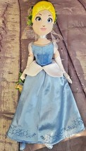 """Disney Store Cinderella 17"""" Plush Doll """"Cindy Spring"""" Flowers Embroidere... - $12.34"""